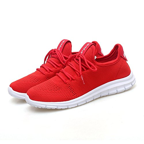 Sport Sneakers Athletic Walking Shoes Light Red Weight Mesh Women Jiayiqi Running Oxwq8BwC