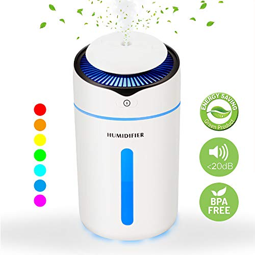 Speclux New I9 Car Diffuser, Cool Mist Air Car Humidifier Air Refresher, Air Purifier, USB Ultrasonic Diffuser with 7 LED Lights, 2 Spray and Lighting Model, Auto Shut-Off, for Car Travel/Office/Home