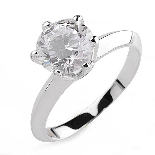 Aiyaya AAA Swiss Cubic Zirconia Diamond Solitaire Engagement Ring (Aaa Swiss)