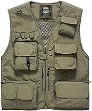Men Casual Multi-Pocket Vest Photojournalist Vest Fishing Vest Unisex