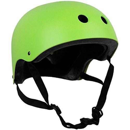 Krown Helmet (OSFA) (Choose Color) (Neon Green/Black Strap)