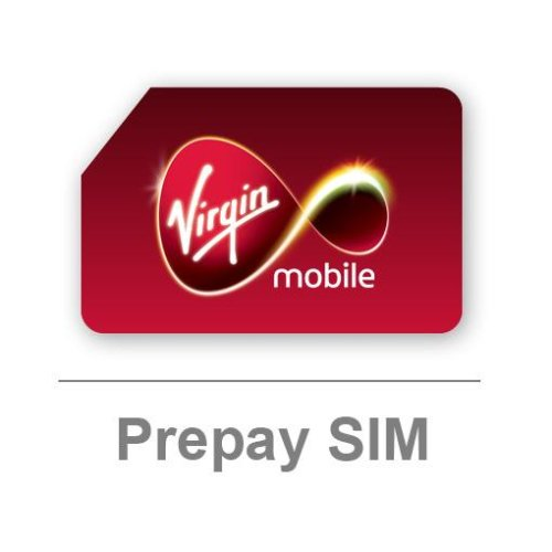Virgin Mobile UK Pay as You Go SIM card - Includes £5 Airtime