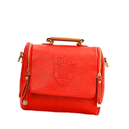 e06e17d52d Messenger Tracolla Borse Vera Amuster Donna Moda Pelle Crossbody Moneta  Rosso Casual Elegante Borsa AzxqZw