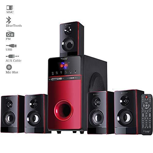TV-7777BT, 5.1 Home Theater Speaker System Bluetooth, 20000 Watts PMPO Multimedia Surround Sound Theatre Speakers…