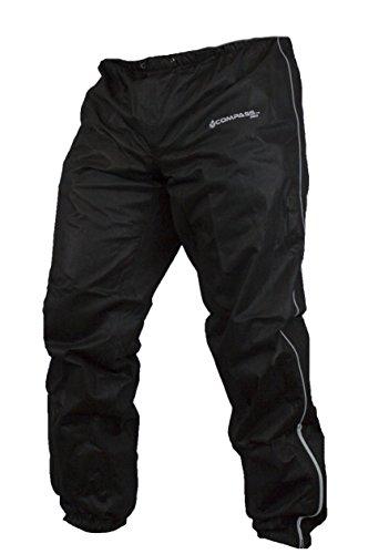 COMPASS 360 Roadtek Reflective Riding Rain Pants, Large, Black