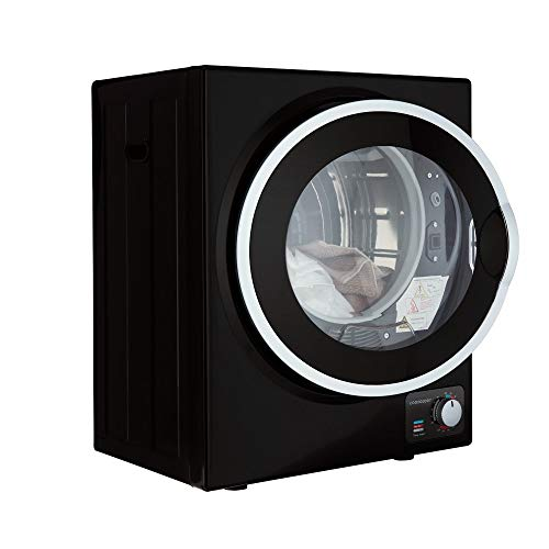 Cookology Mini Tabletop Black Compact Vented Tumble Dryer 2.5kg Portable