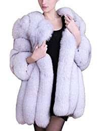 Women's Winter Thick Outerwear Warm Long Fox Faux Fur Coat