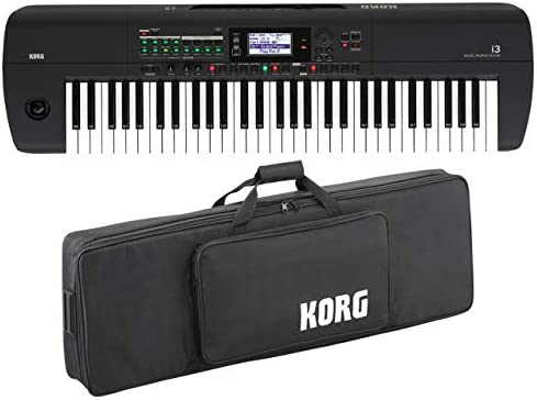 KORG コルグ - ミュージック ワークステーション i3 MB スーパーマットブラック + 純正ソフトケース SC-KINGKORG/KROME セット