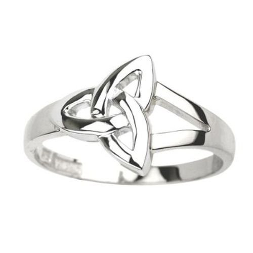 Solvar Trinity Knot Ring Sterling Silver Sz 9 (Weave Ring Celtic Knot)