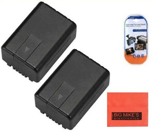 Pack Of 2 VW-VBK180 Batteries for Panaso - V700 Camcorder Shopping Results