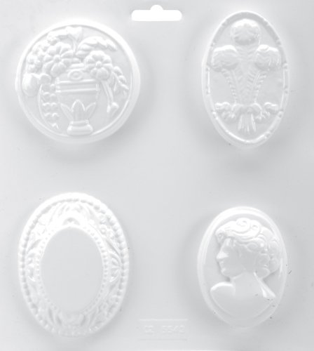 (Yaley LM600-316 Soapsations Soap Mold, 8 by 9-Inch, Cameo)