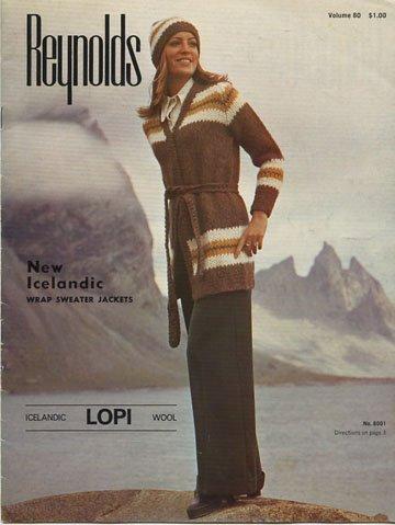Reynolds New Icelandic Wrap Sweater Jackets Lopi Wool (Icelandic Lopi Wool, Volume 80)