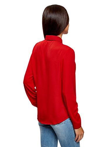 Femme oodji Blouse Tissu en Rouge Ultra 4500n Fluide ppRrq5x