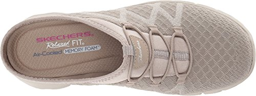 Picture of Skechers Women's KNITTY Gritty-Knit Bungee Version The Easy Going-Repute Mule, Taupe, 8 M US