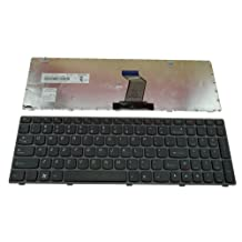 New US Black Laptop Keyboard with frame for Lenovo IdeaPad N580 N581 N585 N586 Part Number:25201846 25206659, MP-10A33US-686, V-117020NS1-US