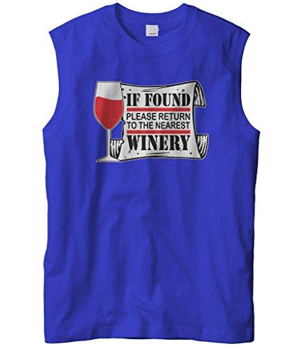 Mondavi Winery (Cybertela Men's If Found Please Return To Nearest Winery Sleeveless T-Shirt (Royal, 2X-Large))