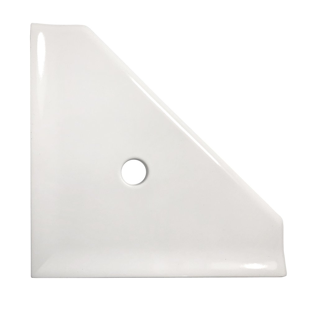Bathroom Shower Corner Shelf 8 inch - Questech Mounted Corner Shelf - Polished White