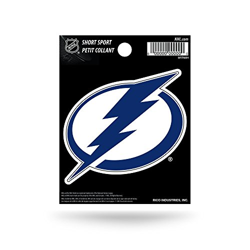 (Rico Industries NHL Tampa Bay Lightning Die Cut Team Logo Short Sport Sticker)