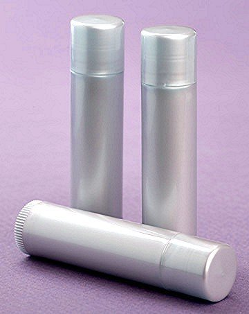25 NEW Empty LIGHT SILVER Lip Balm Chapstick Tubes Containers .15 oz / 5 ml Tube Make Your Own Chapstick Lip Balm DIY At Home with Caps