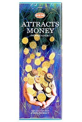 Attracts Money - Box of Six 20 Gram Tubes - HEM Incense