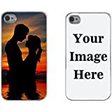 Iphone 4 Case, Iphone 4s Case, Boho Tronics Personalized Custom Picture Phone Case Customizable (Iphone 4 / Iphone 4s) (Silver)