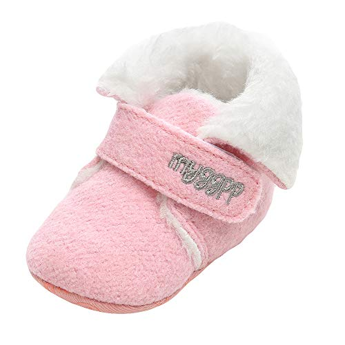 1/2 Knee 4 Inch Boot (Baby Girl Boys Snow Boots Cotton Shoes Fashion Toddler First Walkers FurLined Slipper Shoe (12-18 Months, Pink))