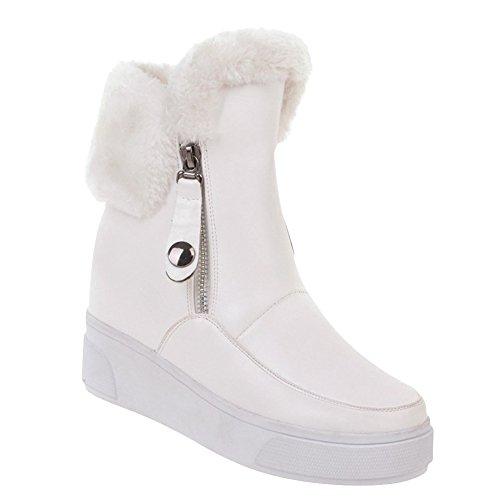 Show Shine Womens Zip Sleehak Platform Snowboots Wit