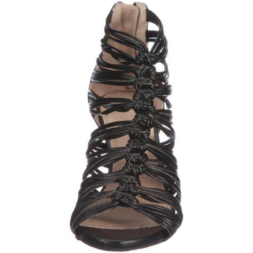 Bronx Coral 37 twist black 83727-F1 - Sandalias de vestir de cuero para mujer Negro
