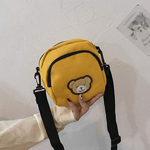 Womola Female New Cartoon Canvas Bag Shoulder Bag Casual Fabric Student Messenger Bag