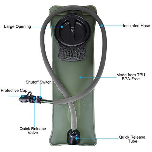 G4Free 22L Sac d'hydratation Sac à Dos de Course avec Upgrade Vessie d'eau de 3L pour Vélo VTT Randonnée Alpinisme… 2