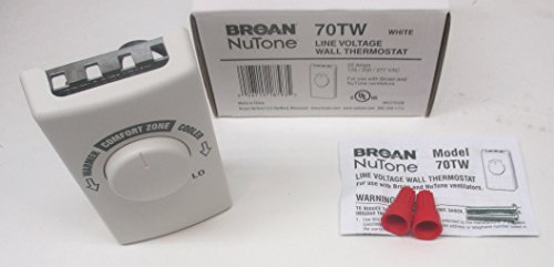 Broan NuTone 70TW Wall Thermostat for Fans – White Review