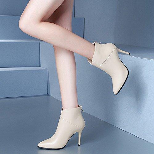América de Botas la Otoño de Finas Señoras Solo Desnudas Delgadas CXY Moda de de Botas Botas nbsp;Segundo Botas Europa Y Alto Las Martin 36 con Tacón OXqAnfw8
