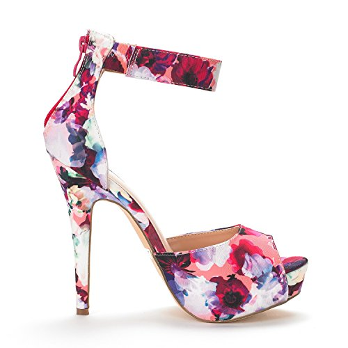 Pump Dream High Dress Shoes Swan Heel Women's Floral Pairs Plaform wBqw0C