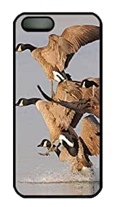 iPhone 5S Case and Cover -A Flock Of Geese Race One Another To The Water PC case Cover for iPhone 5 and iPhone 5s ¡§CBlack by lolosakes