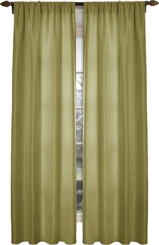 Maytex Diamond Waffle Window Curtain, Sage