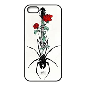 Guitar Pattern Hard Plastic Back Cover Case For Iphone 5,5S Case HSL413193