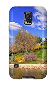 Tpu Shockproof/dirt-proof Botanic Spring Cover Case For Galaxy(s5)