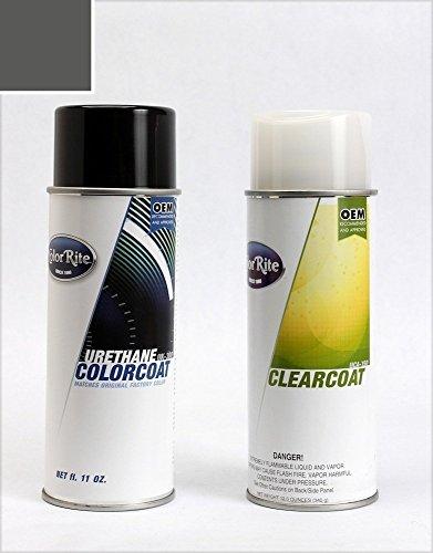 (ColorRite Aerosol Dodge Challenger Automotive Touch-up Paint - Granite Crystal Metallic PAU/LAU - Color+Clearcoat Package)