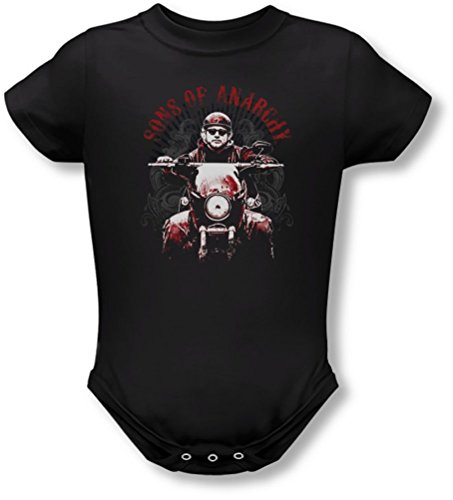 Sons Of Anarchy - Ride On Onesie, 6 Months, Black
