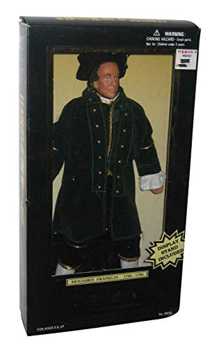 1997 - Formative International Co. Ltd. - Leaders of the World - Benjamin Franklin (1706 to 1790) - 12 Inches Tall - Fully Poseable / Display Stand - Very Rare - New - Out of Production - Limited Edition - Collectible