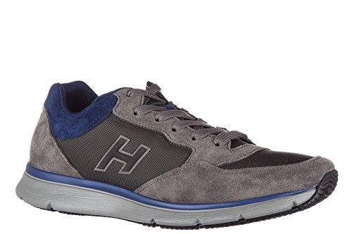 Hogan chaussures baskets sneakers homme en daim traditional 2015 h flock gris