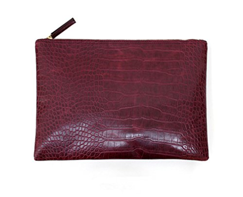 - Marchome Crocodile Grain Pu Leather Purse Women Envelope Clutch Bag Evening Handbag Wine Red