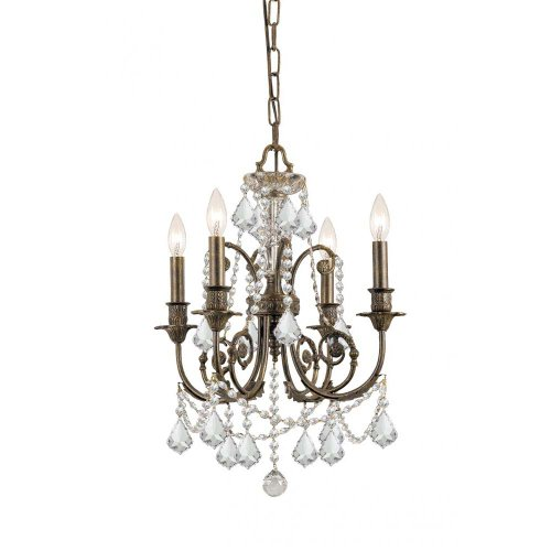 Crystorama Lighting 5114-EB-CL-S Chandelier with Swarovski Element Crystals, English Bronze