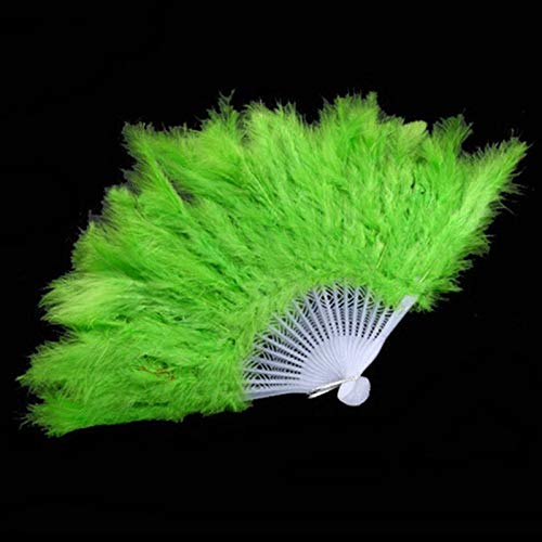 Party DIY Decorations - 9 Colors Showgirl Feather Fans Folding Dance Hand Fan Fancy Costumes Party 1pc - Angel Dreamgirl Purple Adult Swan Medieval Mardi Full Police Brooches Carnaval Devi ()