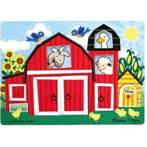 Farm Peek-A-Boo Puzzle (Fresh Start Wooden Puzzle)
