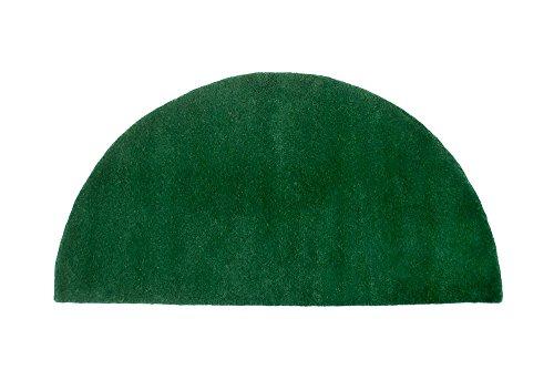 Minuteman International Nottingham Green Solid Wool Hearth Rug, Half Round (Green Round Rug Solid)