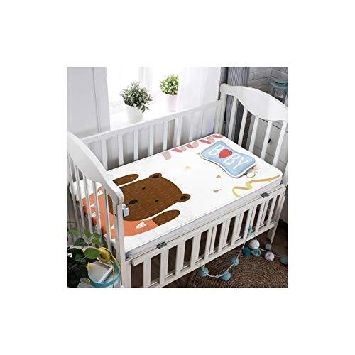 2Pcs Summer Baby Sheet Pillow Sets Breathable Cartoon Knit Ice Silk -