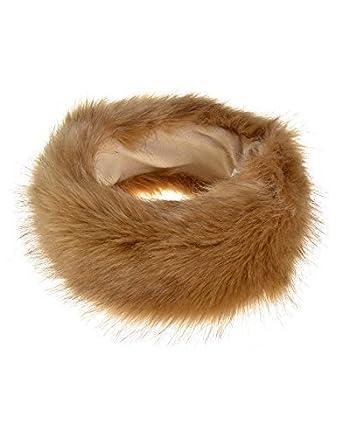 6b80ae49ce0 Haute For Diva s Womens Faux Fur Celeb Head Band Ladies Winter Ski Ear Muff  Warmer Hat  Amazon.co.uk  Clothing
