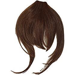 One Piece Clip In Fringe Bangs Hairpiece Medium Brown Very Real Look Synthetic