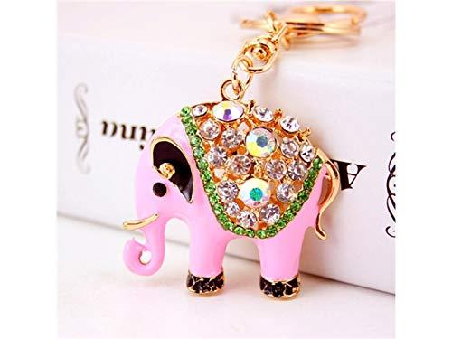 Yunqir Lightweight Cute Creative Diamond Elephant Pendant Key Chain Bag Purse Decoration Keyring(Pink) by Yunqir